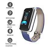 2 in 1 Smartwatch Mit Kabellosen Kopfhörern, Blut Pulsmesser Kcal Sport Smart Armband, 0,96-Zoll-TFT-Bildschirm Smart Watch,A