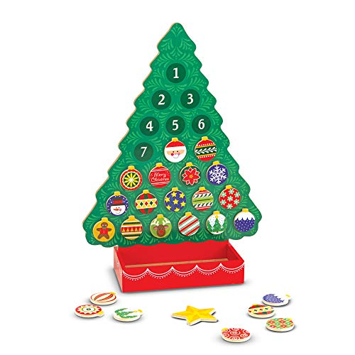 Melissa & Doug Countdown to Christmas Wooden Advent...