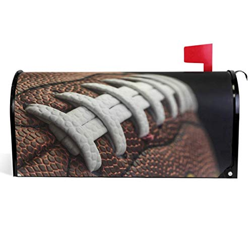 Briefkastenabdeckung mit lustigem American Football-Schnürsenkel, traditioneller Sport, magnetische Briefkastenumhüllung, Standard-Größe 45,7 x 53,3 cm