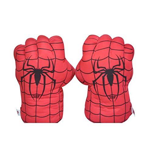 U/C 1 par de Guantes de Boxeo de Felpa Suave para nios Juguetes de Spiderman Hulk Smash Hands Fists Disfraz Guantes de Cosplay muecas para nios nias,Spiderman A