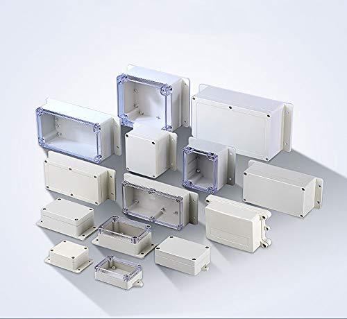 BE-TOOL IP65 Abzweigdose - Wasserdichtes Gehäuse Instrumentenkoffer - ABS Elektrische Projektbox DIY für elektronische Projekte, Netzteile (1 Stück, grau)