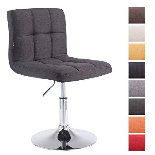 CLP Chaise Lounge Design Palma V2 I Rembourré avec Revêtement en Tissu et Coutures décoratives I Chaise Pivotante Hauteur Réglable I Charge Max 135 kg Couleur: Noir