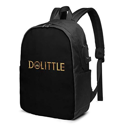 IUBBKI Bolsa para computadora mochila USB Doct-Or Dol-Ittle 17 Inch Laptop Backpack For Men & Women,Travel/School Backpack With Usb Charging Port & Headphone Interface