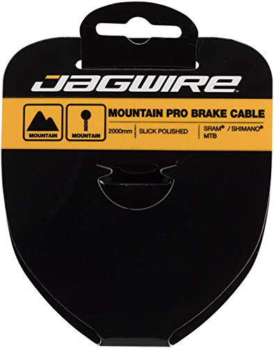Jagwire - Pro Slick Polished Stainless Steel Bicycle Brake Cable | for MTN Bike | SRAM and Shimano Compatible | 1.5 x 2000 mm