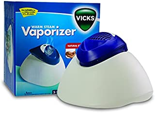 Vicks Warm Steam Vaporizer   Natural Steam Therapy, Relieves Cold & Flu Symptoms, Automatic Shut off, Easy to Clean, Night...