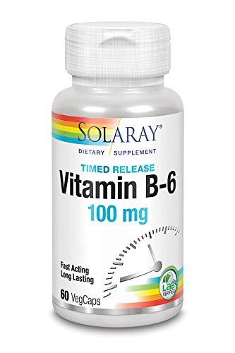 Solaray Vitamin B-6 100mg | 60 VegCaps