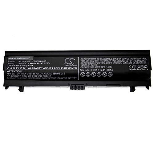vhbw batería Compatible con Lenovo ThinkPad L560, L570 Notebook (4400mAh 10.8V Li-Ion Negro)