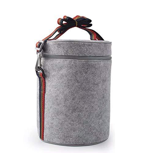 Bolsa Isotérmica De Almuerzo Lunch Bag Bolsa Térmica Porta Alimentos Tela Impermeable Plegable Bolso De Picnic Para Mujeres, Adultos, Estudiantes Y Niños,18x25cm