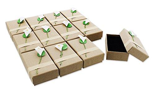 Juvale 12Piezas Caja de Regalo Set–Lily Joyas Caja para Aniversarios, Bodas,...