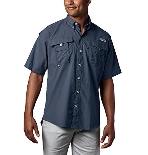 Columbia Men's PFG Bahama II Short Sleeve Shirt, Collegiate Navy, Large