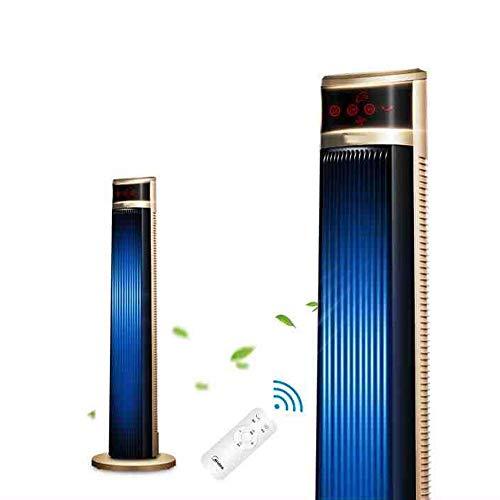 FUFU Climatizadores evaporativos Ventilador de Torre, Ventilador de Torre oscilante, Control Digital de 3 velocidades/w Control Remoto, Temporizador de 7 Horas, Pantalla LCD, Ventilador de refrigera