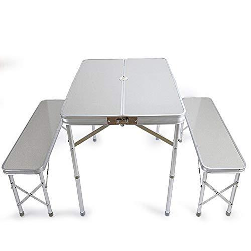 Yxsd - Mesa y sillas plegables de exterior, juego de mesa de barbacoa, mesa de camping, mesa plegable, mesa portátil, mesa y sillas divididas