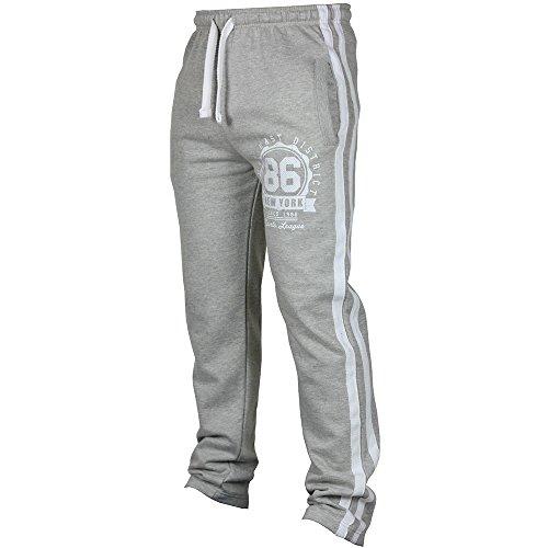 Xmiral Herren Sporthose Jogging Fitness Lässige Lose Jogginghose Drawstring Pants Seite Streifen Logo Lässige Hosen(M,Grau)