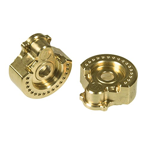 RCLions Brass Outer Portal Drive Housing 2pcs Heavy Weight 95g for 1/10 RC Crawler Car TRX4 TRX6 Upgrade Parts
