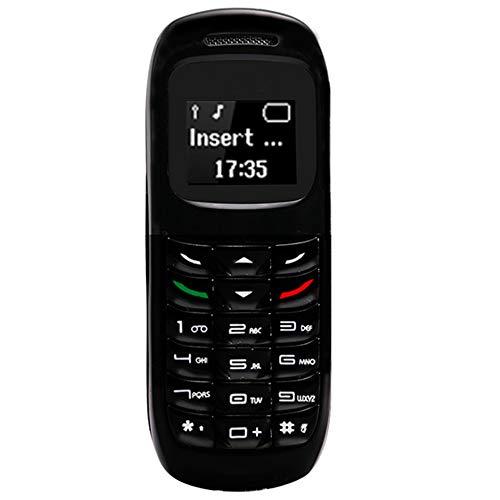 AZLMJXH Mini Phone, Wireless Bluetooth Headset Handy-Stereo GSM entsperren Telefon ultradünne Miniatur kreative Persönlichkeit Dialer Candy Bar,A