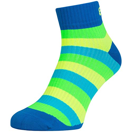 Eleven Kompressionsstrümpfe   Kompressionssocken   Laufsocken   Compression Socks   Strümpfe   Thrombosestrümpfe   Damen   Herren zum Sport, Laufen, Flug, Reise (Luca Stripe, M-L (EU 40-44))