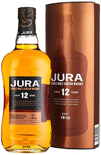Jura 12 Years Old Single Malt Scotch Whisky mit Geschenkverpackung (1 x 0.7 l)