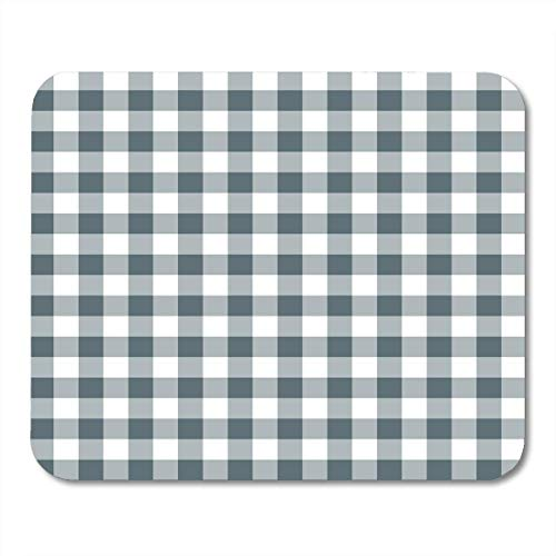 AOHOT Mauspads Blue Pattern Tablecloths Gray 50S Gingham Plaid Retro Abstract Mouse pad 9.5