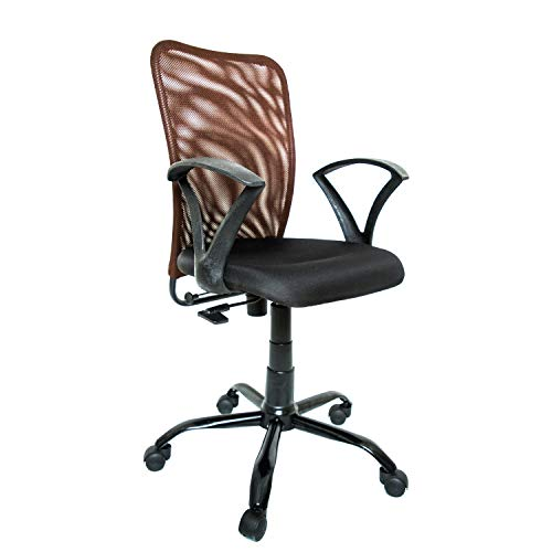 CELLBELL Mid Back Arm_Rest Office Chair (Fabric,Chocolate...