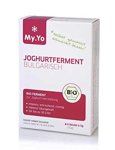 My.Yo - Bio Joghurtferment Bulgarisch | 6x5 gr | Ferment für bis zu 30 L selbst gemachten Joghurt