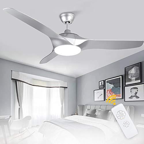 Depuley LED Deckenventilator mit Leuchte, 58W Super Leise Ventilator mit 18W Licht und Timer, Einstellbare Windgeschwindigkeit und 3 Farbwechsel, Deckenleuchte Modern für Wohnzimmer Schlafzimmer