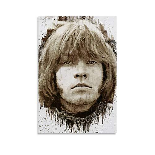 WSDSX Brian Jones Poster auf Leinwand, HD-Druck, ästhetische Poster für Inneneinrichtung, 30 x 45 cm