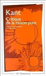 Critique de la raison pure d'Emmanuel Kant