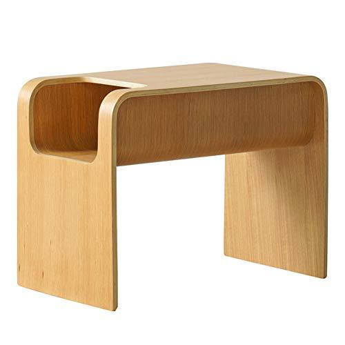 XM&LZ Massivholz Einfach Beistelltisch,stilvoll Klein Computertisch Schreibtisch,eckschreibtisch Für Wohnzimmer Schlafzimmer,Laptop-Tisch Workstation Gelb 60x35cm(24x14inch)