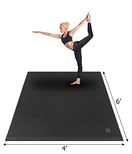 Gxmmat Large Yoga Mat 72'x 48'(6'x4') x 7mm for Pilates Stretching Home Gym Workout, Extra Thick Non Slip Anti-Tear Exercise Mat