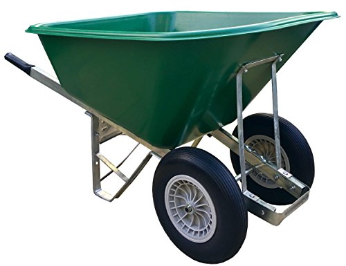 Wheelbarrow 200l Green Puncture-Proof Wheels Wheelbarrow - Delivered Fully Assembled