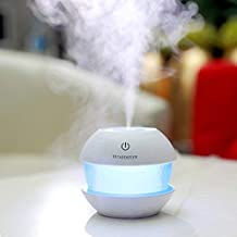SHOPPOSTREET Magic Diamond Cool Mist Humidifiers Essential Oil Diffuser Air Humidifier with Led Night Light Colorful Change for Car Office (Multi color)