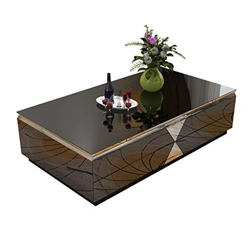Xu-table grijze spiegel koffietafel, pub evenwichtig glas decoratie buitentafel, tuin TV leest cocktailtafel, multifunctionele
