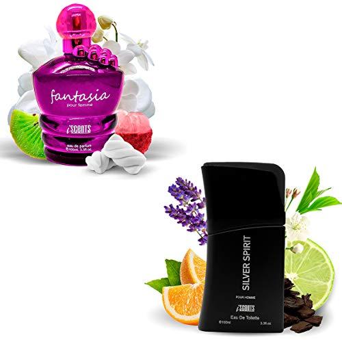 Kit 2 Perfumes Importados Fantasia e Silver Spirit I Scents