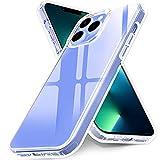 Ferilinso Funda Diseñado para iPhone 13 Pro, Carcasa Protectora Antigolpes Anti-Choques, Protección de Grado Militar, Anti-amarilleo 10X, 5G 6.1 Pulgadas, Claro