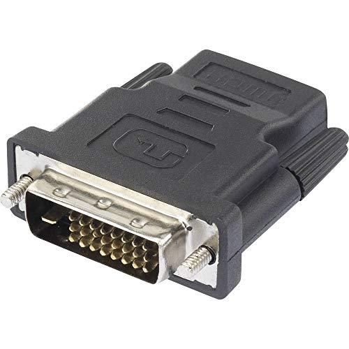 Renkforce RF-4212228 HDMI/DVI Adapter [1x HDMI-Buchse - 1x DVI-Stecker 24+1pol.] Schwarz