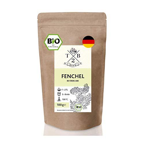 BIO-Fencheltee mit losen Fenchelsamen süß für Fenchel Anis Kümmel Tee oder Babytee, 100g | Tea2Be