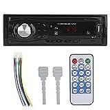EVGATSAUTO Autoradio Bluetooth MP3, 12 V Voiture Bluetooth MP3 Radio FM Carte mémoire AUX Lecteur de Disque U Universal Auto Audio Entertainment