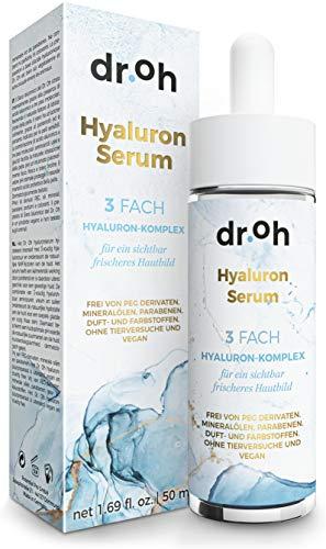 InStyle FAVORIT 06/2020* Hyaluron Serum Hochkonzentriert – Vegane Inhaltsstoffe mit 3-Fach-Hyaluronsäure-Komplex – Für empfindliche Haut geeignet – Ohne Duft- und Farbstoffe – Anti Aging Gel ölfrei