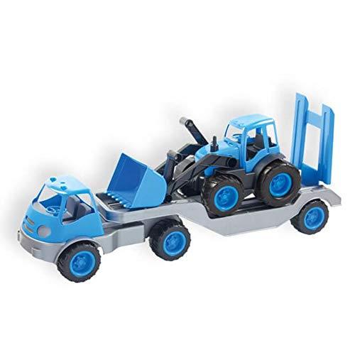 Mochtoys Spielzeug Semitrailer 10171, LKW Tieflader mit Bagger 61 x 16 x 23 cm