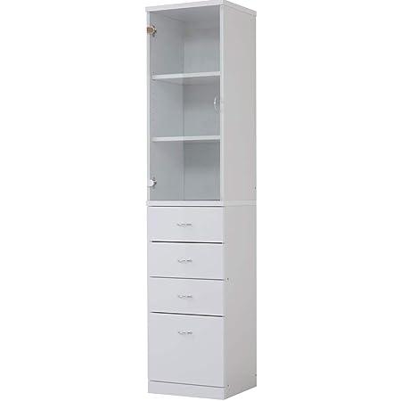 ワイエムワールド すき間収納 食器棚 ドルフィン 幅40cm ホワイト 00-057