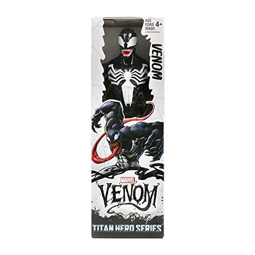 DEERO 30cm Marvel Super Heroes Avengers Endgame Thanos Wolverine Venom Action Figure Giocattoli Bambola per Bambino Ragazzo (Venom with Box,China)