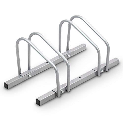 BITUXX® Fahrradständer Aufstellständer Radständer Fahrrad Bike Ständer Metall Platzsparend (Für 2 Fahrräder)
