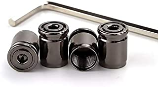 Zyj stores 4 stuks Anti-diefstal Metal Tire Valve Cap Auto Motor Bike Safety Auto Valve Stem Covers met Wrench Car-Styling...