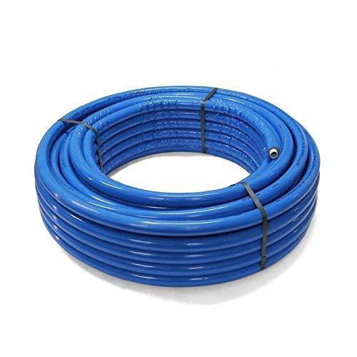 SANPRO THPRESS Isoliertes Mehrschichtverbundrohr/Verbundrohr 26x3-6 mm isoliert (blau) 25 Meter