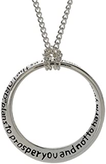 Dicksons Inspiring Jeremiah 29:11 I Know The Plans for You Silver Plated 18 inch Pendant Necklace