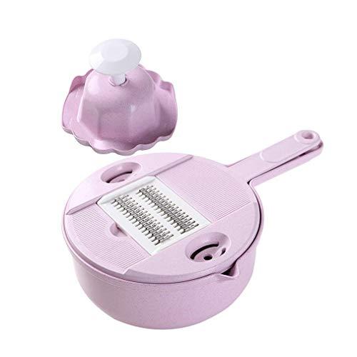 Yaeele Máquina de cortar de múltiples funciones del interruptor del hogar rallador de cocina de la raspa de patata de la rebanada del cuchillo de pelado del rallador cortador 304 Hoja de acero inoxida