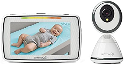Summer Baby Pixel Video Baby Monitor with 5-inch Touchscreen and Remote Steering Camera – Baby Video Monitor with Clearer Nighttime Views and SleepZone Boundary Alerts