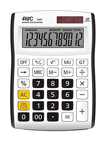 Calcolatrice AVC 12 Cifre da Tavolo Nero