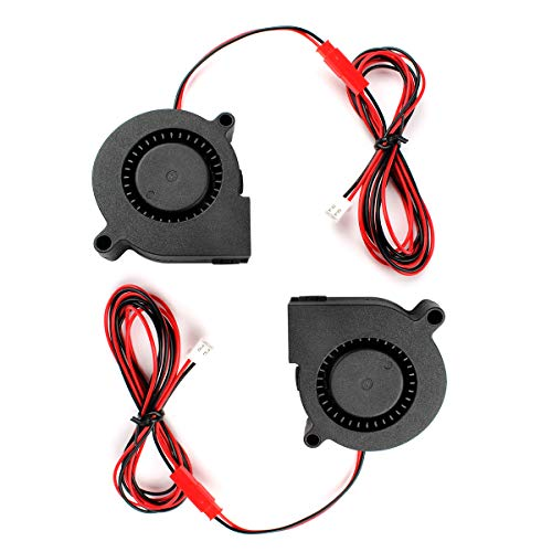 Toaiot 3D Printer Blower Fan Brushless Cooling Fan 5015 50x50x15mm 24V DC Extruder Hotend Cooler Radiator with 110cm/43.3 inch Extension Cables for Monoprice Maker/Ultimate/Ender 3/Ender 3 Pro-2Pcs