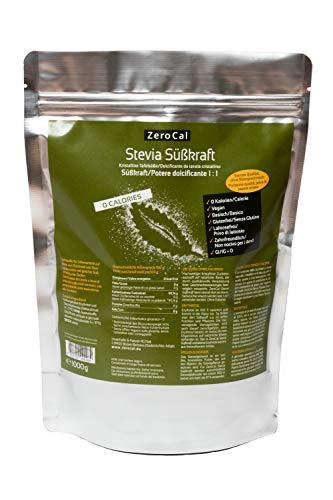 ZeroCal - 1:1 (Stevia - Eritritolo) - 1kg - potere dolcificante uguale allo zucchero tradizionale